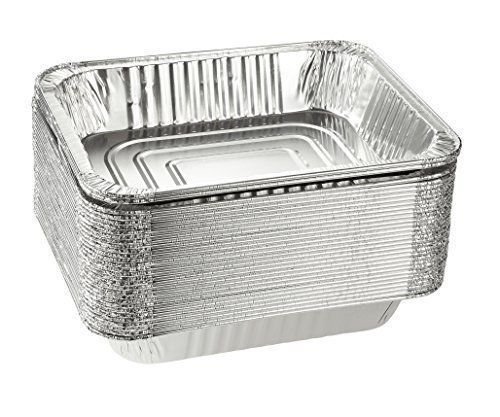 Disposable Aluminum Foil Steam Table Pan Takeout Lasagna Tray (15, 9 X 13 Half Size Catering/Heavy-Duty)