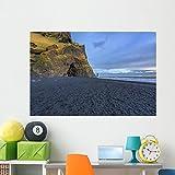 Wallmonkeys WM361240 The Black Sand Beach of Reynisfjara Wall Decal Peel and Stick Graphic (60 in W x 40 in H)
