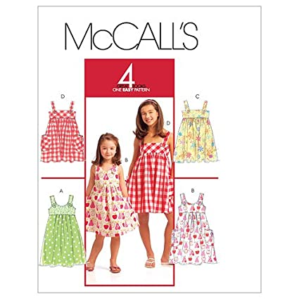 McCall's Patterns M5613 Children's/Girls' Dresses, Size CCE (3-4-5-6)