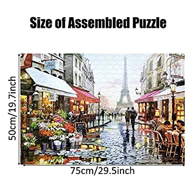 DANALA Unisex 1000 Pieces Adult Puzzles - Wooden Assembling Puzzles Difficult Toys for Adults Children Games Educational Toys Difficult Puzzle Landscape Style Gifts: Toys & Games