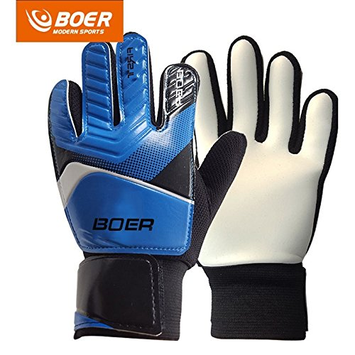 Blue #7 Children Kids Youth Football Soccer Goalkeeper Goalie Training Gloves (Goalkeeper Training)
