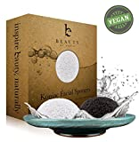 Konjac Sponges - Beauty by Earth Konjac Facial Sponge - 2...