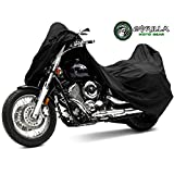GORILLA Ultimate Motorcycle Cover - Superior Quality, Easy to Install and Store with Zipper Bag - 100% Water/Leak Proof - Bilt for Harley, Yamaha, Honda, Kawasaki, Suzuki, all Sport & Touring Bikes.