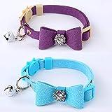 GOPET Adjustable Cat Collar Set Breakaway with