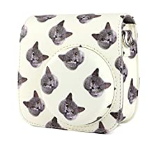 Fujifilm instax mini 8 Mini8+ Mini9 camera case wogozan fuji instax mini 8 accessories bag With strap - cat head pack
