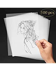 AODOOR Papel de calco, papel transparente formato DIN A4 100 gsm para impresoras láser, diseñar elegantes invitaciones de boda, cartas de menú, cupones felicitaciones (100 hojas)