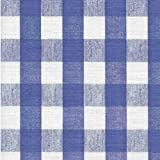 Blue Chess Check Series F0256 Vinyl Tablecloth 54'' x 45' Roll