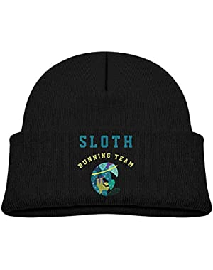 Kids A Sloth Baby Boy's Hat Kids Cool Knit Beanie Hats Toddlers Caps Black