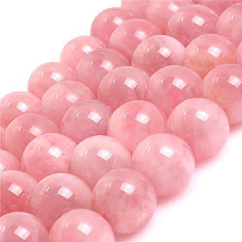 Madagascar Rose Quartz Crystal Beads for Jewelry Making Natural Gemstone Semi Precious 10mm Round AAA Grade 15