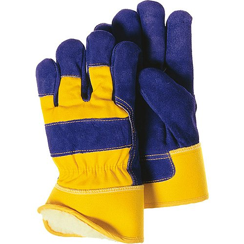 Size 10 Large Majestic Glove 1600//10 Work Glove Lined Blue//Yellow Pack of 12