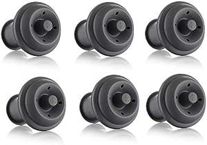 Vacu Vin Wine Saver Vacuum Stoppers Set of 6 – Grey