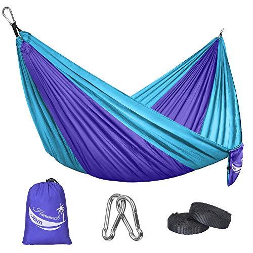 JBM Camping Hammock Single & Double Portable Lightweight Parachute Hammock Outdoor Hiking Travel...
