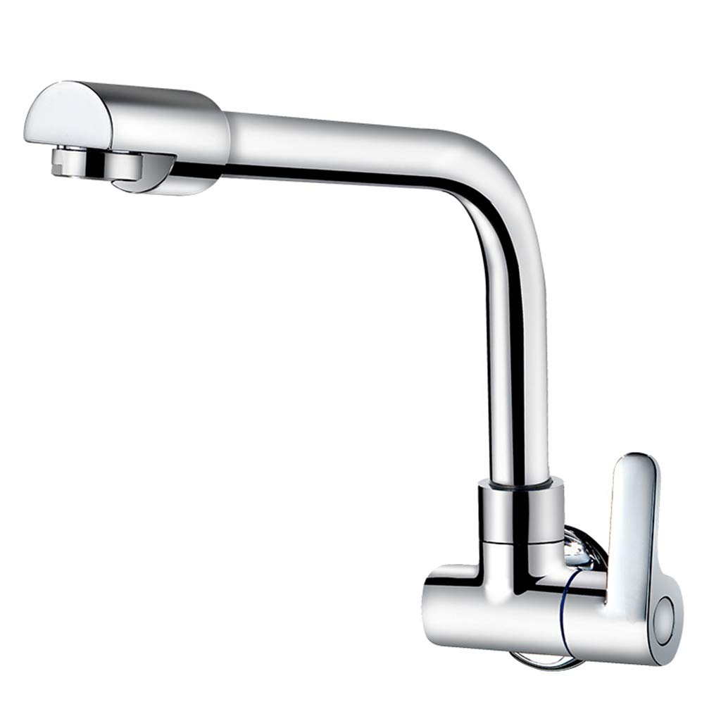 Yxx max Full Copper in-Wall Faucet Kitchen 360 Degree Rotating Single Cold Faucet