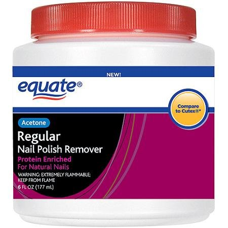(Equate Regular Nail Polish Remover, 6 oz Tub with Sponge (Compare to)