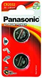One (1) Twin Pack (2 Batteries) Panasonic Cr2032 Lithium Coin Cell Battery 3V Blister Packed