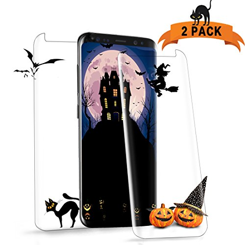 Pasnity Screen Protector for Galaxy S8 Plus, [2-Pack] Tempered Glass [Case Friendly] 3D Curved Edge Ultra Clear 9H Hardness, [HD] [No Bubbles] [Scratch] [Anti Fingerprint]