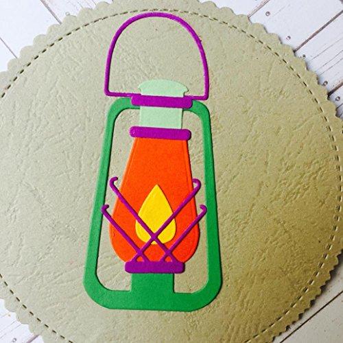 Transer Metal Die Cutting Dies Kerosene Lamp Stencil for DIY Scrapbooking Album Paper Card Decor Craft (E)