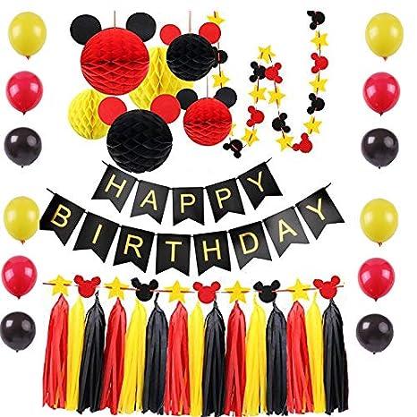 Accesorios de fiesta de cumpleaños de Mickey Mouse, ideas de ...