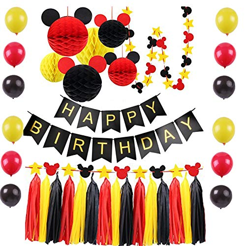Mickey Mouse Birthday Decorations Party Supplies -