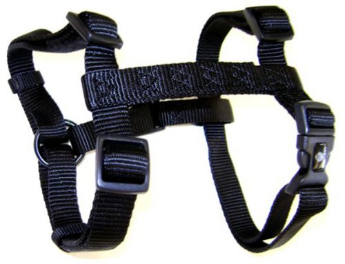 "Hamilton Adjustable Comfort Nylon Dog Harness, Black, 5/8"" x 12-20"""