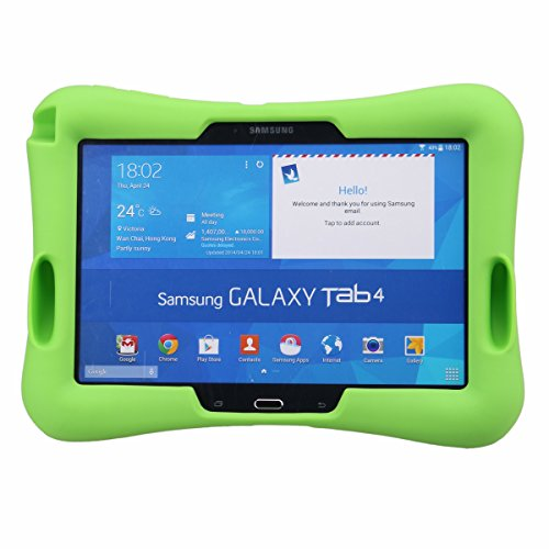 NEWSTYLE Kids Shockproof Silicone Protective Case with Build-in Kickstand for Samsung Galaxy Tab 4 10.1 Inch SM-T530 / SM-T531 / SM-T535 Tablet