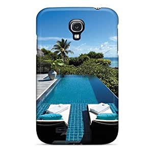 Galaxy High Quality Tpu Case/ Paradise Lodge Tropical Resort RVsrPHg3584PEYIt Case Cover For Galaxy S4