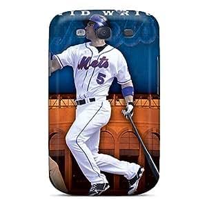 Galaxy S3 New York Mets Print High Quality Tpu Gel Frame Case Cover