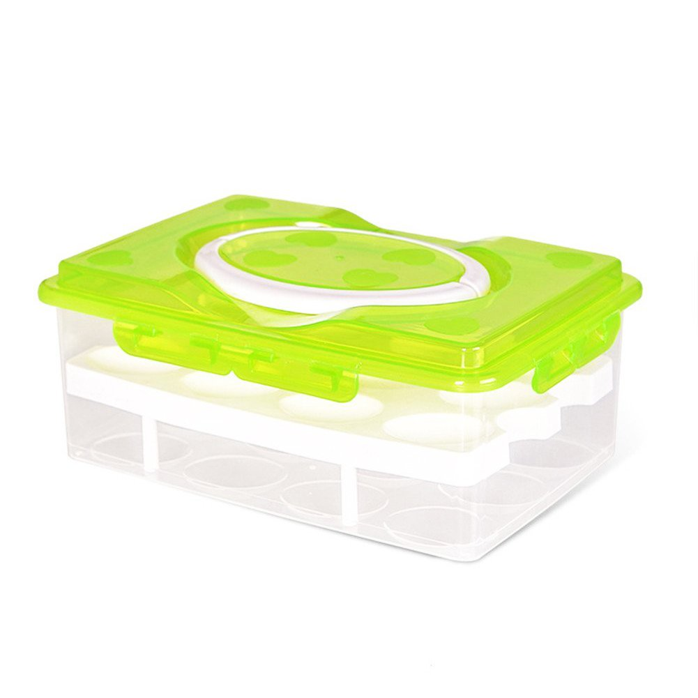 Portable Double-layer 24 Egg Storage Box Portable Egg Box for Refrigerator