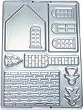 タイガークラウン クッキー型 シルバー 192×266×7mm ビクトリアハウス スチール アルミメッキ 家 立体 パーツ 組立 2330