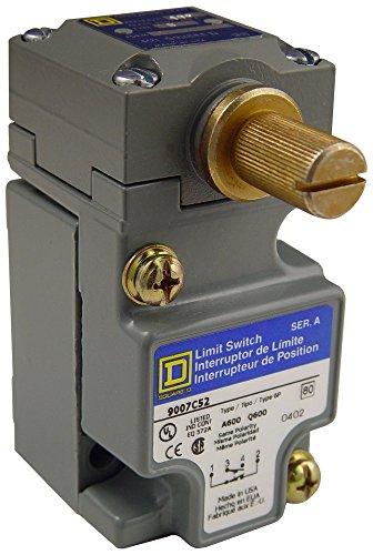 (Square D 9007C52B2 Heavy Duty NEMA Limit Switch, Compact Size, 1 Pole, Std. Rotary Head, CW + CCW)