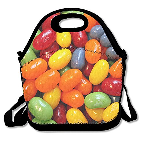 LPYHB-U8 Halloween Sour Gummy Candy Lunch Tote Bag Picnic Lunchbox Lunch Tote Insulated Reusable Container Organizer For, Adults, Kids For School Work Outdoor (Funny Adult Halloween Pics)