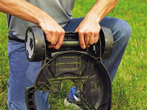 BLACK+DECKER STC1820CM-QW Outil 3 en 1 : Coupe-bordures, Dresse-bordures et Tondeuse sans fil - 2 hauteurs réglables 40 et 60 mm - 2 vitesses, 18V, Rouge Orangé, 28 cm - Home Robots