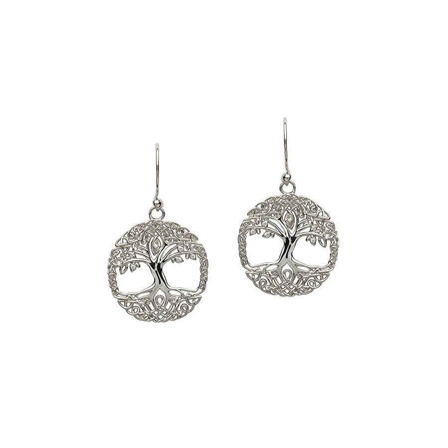 Hallmarked Sterling Silver Tree Of Life Earrings