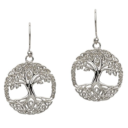 Hallmarked Sterling Silver Tree Of Life Earrings
