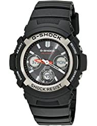 G-Shock AWG-M100-1ACR Mens Tough Solar Atomic Black Resin Sport Watch