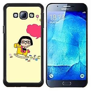YiPhone /// Prima de resorte delgada de la cubierta del caso de Shell Armor - Kepka devushka hip hop Veschi - Samsung Galaxy A8 A8000