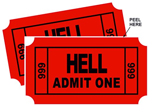 Ticket to Hell Cool Sticker (2 pack) 3.5