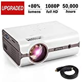 CRENOVA XPE496 Mini Projector, Full HD 1080P and 170'' Display Supported, Portable Mini Video...