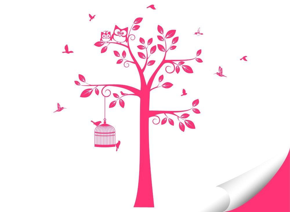 Wandaro Wandtattoo Baum Vögel I I I weiß (BXH) 108 x 160 cm I Kinderzimmer Aufkleber selbstklebend Wandaufkleber Wandsticker Sticker Wandtatoo W3281 B01H79WXCY Wandtattoos & Wandbilder 0ada65
