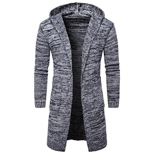 chaud Fit tricot Slim d'hiver Homme Hooded Moonuy wqHYRF7xq