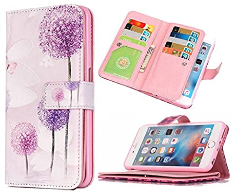 iPhone 6s Plus Wallet Case,iPhone 6 Plus Wallet Case Hynice PU Leather Wallet Purse With Wrist Strap Stand Feature Card Slot ID Card Wallet For Women Men fit iPhone6/6s Plus (Iphone6 Plus Case Card Holder)