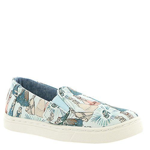 TOMS Kids Baby Girl's Luca Disney¿ Princesses (Infant/Toddler/Little Kid) Blue Cinderella Printed Canvas 5 M US Toddler M (Disney Shoes Baby Size 5)