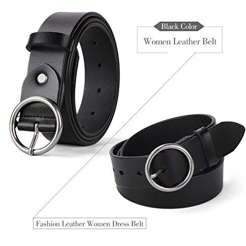 d90ff8dbe82 Jual WERFORU Women Casual Dress Belt Genuine Leather Belt with Round ...