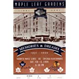 Maple Leafs Gardens Final Ticket - Bobby Hull & Johnny Bower - Toronto, Chicago