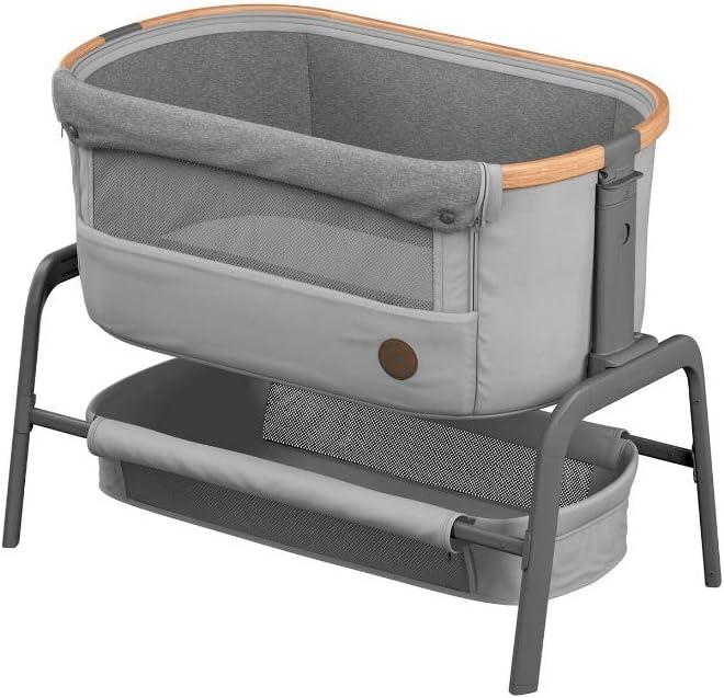 Bébé Confort Iora Cuna de colecho con función de deslizamiento sencillo, adecuada desde el nacimiento, 0 meses - 9 kg, Essential Grey (gris)