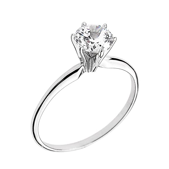 The 8 best white gold engagement rings under 100