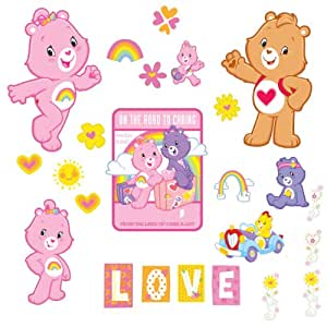 Brewster st99834 care bears wall stickers for Care bears wall mural