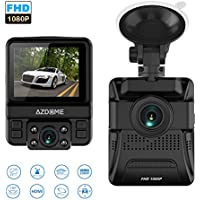 OUCOMI Dual Lens Car Dash Cam, 150°Wide-Angle Lens 1080P WDR Driving Recorder with Loop Recording, G-Sensor, Parking Monitor (Black)