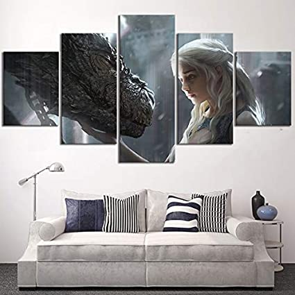 Game Of Thrones Daenerys Canvas Framed Print Wall Art ~ More Size