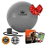 Cyber Monday Week: Stability Balance Yoga Ball :: Swiss Exercise Balls Made With Anti Burst Rubber :: Fitness Ball Chair Comes in 65 cm & 55cm Size